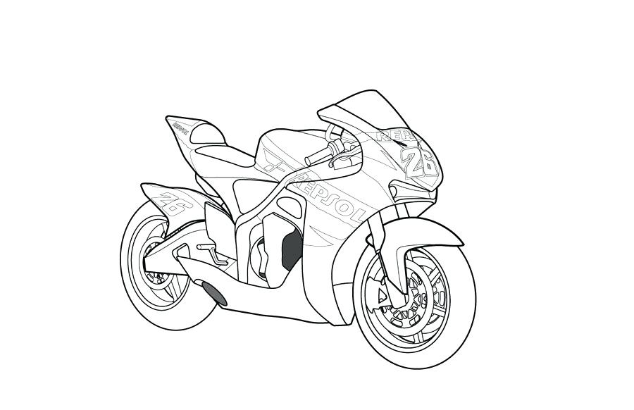 900x582 Coloring Pictures Of Motorcycles Motorcycle Coloring Pages Images