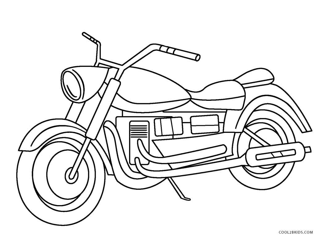 1056x785 Drawn Motorcycle Colouring Page Pencil And In Color Motor Cycle