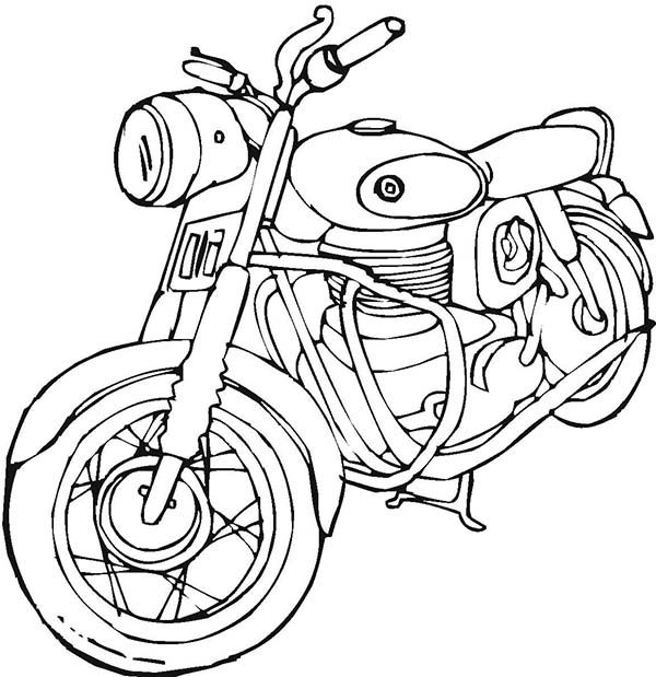 600x619 Harley Davidson Coloring Pages To Print Motorcycles, Vintage