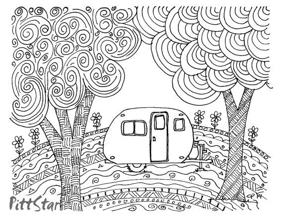 Motorhome Coloring Pages