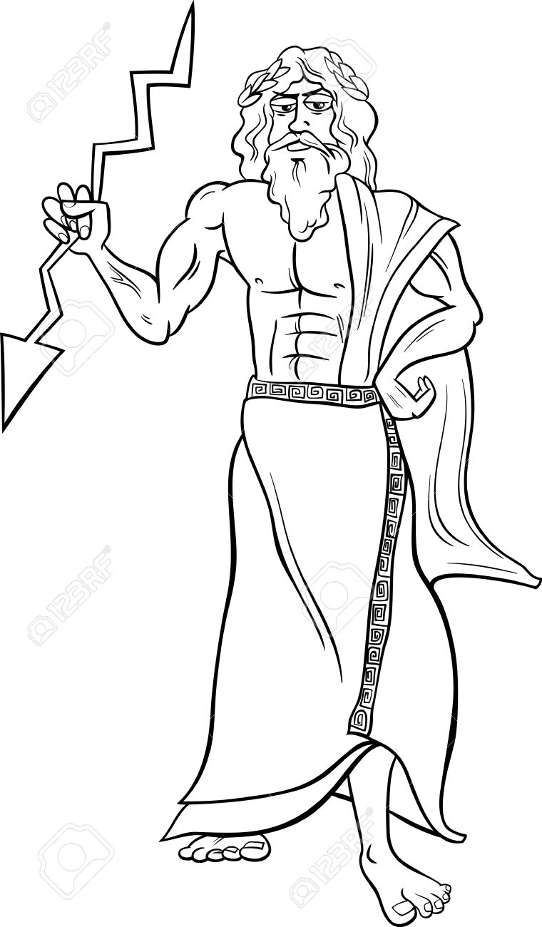 760x1300 Nice Zeus Coloring Page Top Gallery Ideas