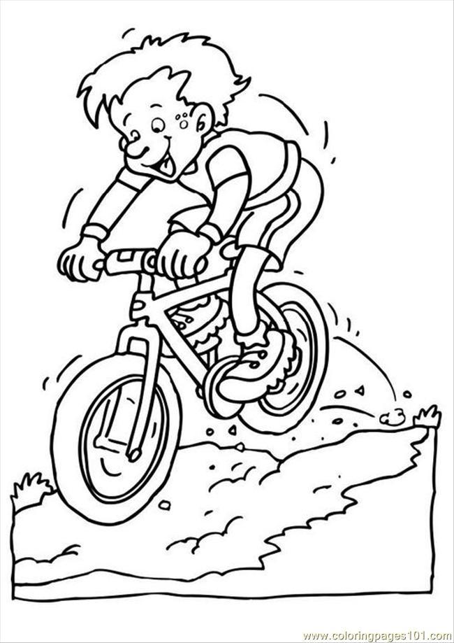 650x919 Es Photo Mountain Bike P Coloring Page