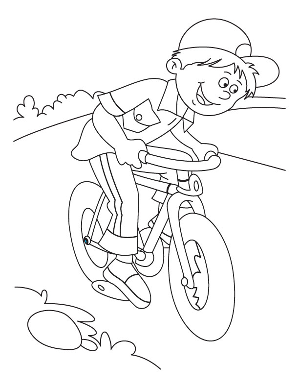 612x792 Mountain Bike Coloring Pages