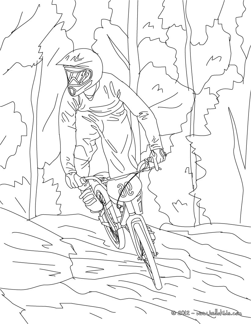 821x1061 Mountain Bike Cycling Sport Coloring Page More Sports Coloring