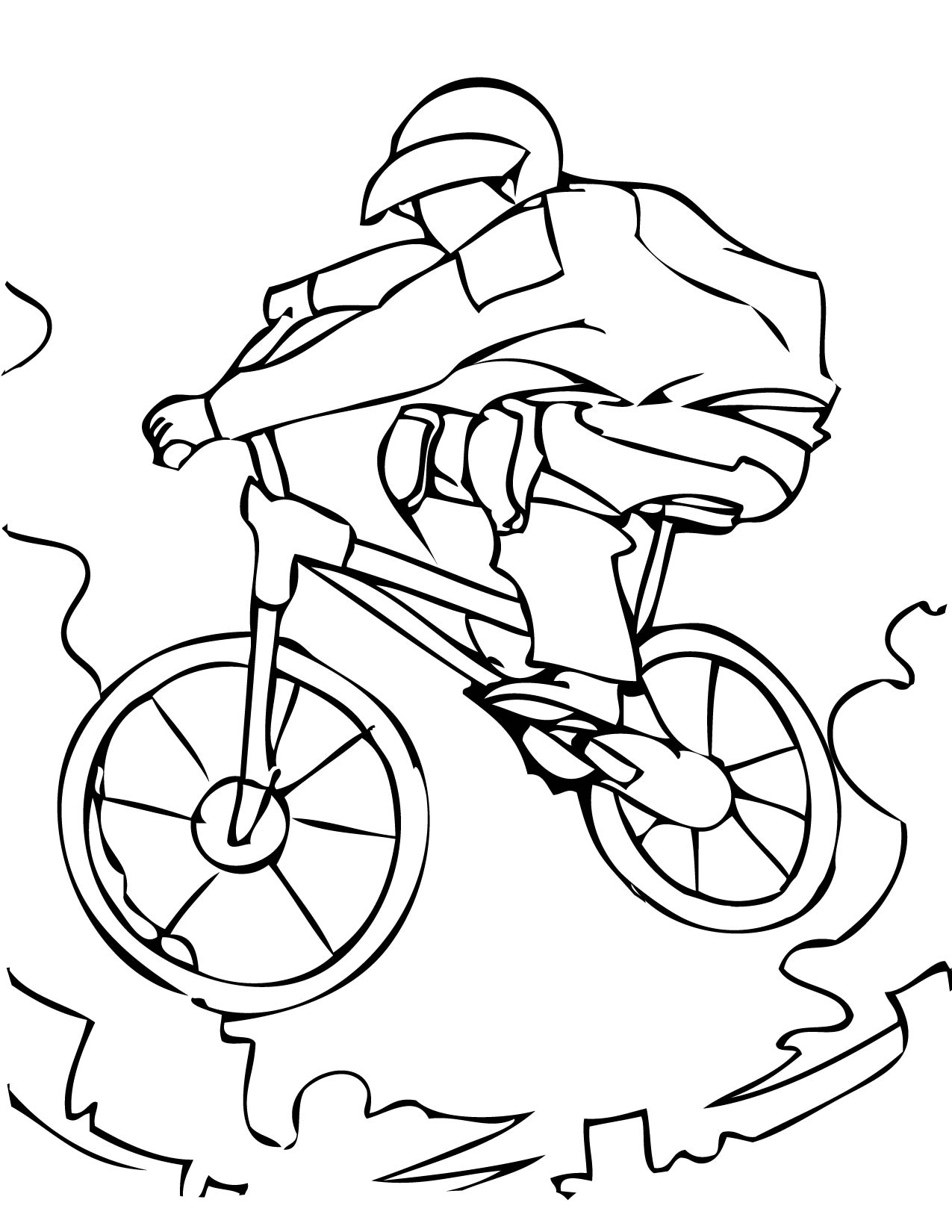 1275x1650 Mountain Biking Free Coloring Page Kids, Sports Coloring Pages