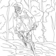 220x220 Mountain Bike Cycling Sport Coloring Pages
