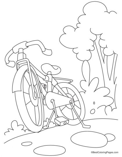 420x542 Mountain Bike Is For Sale Coloring Page Download Free Mountain