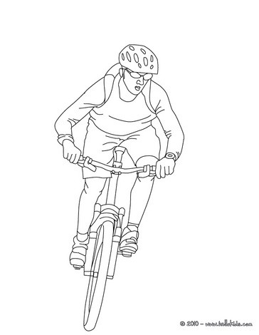 364x470 Mountain Biker Coloring Pages