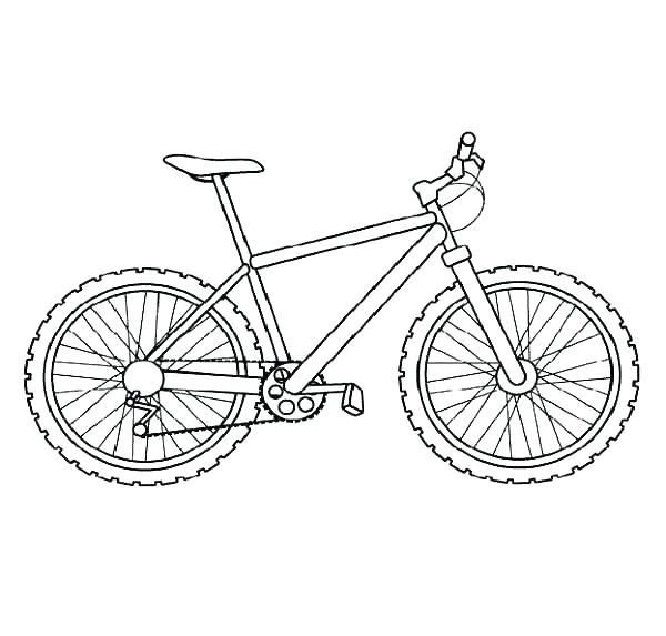 600x573 Bicycle Coloring Page Mountain Biker Mountain Bike Coloring Page