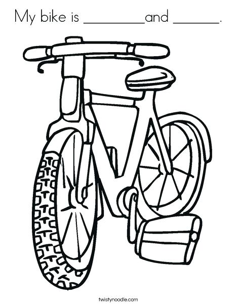468x605 My Bike Is And Coloring Page Twisty Noodle Kids Bike Coloring Page
