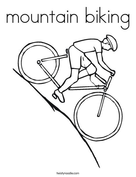 468x605 Mountain Biking Coloring Page
