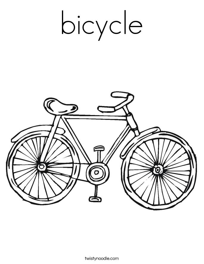 685x886 Mountain Biking Coloring Page