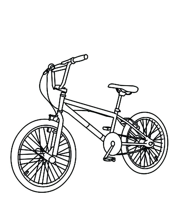 600x775 Bicycle Coloring Pages Mountain Bicycle Coloring Page Motorbike