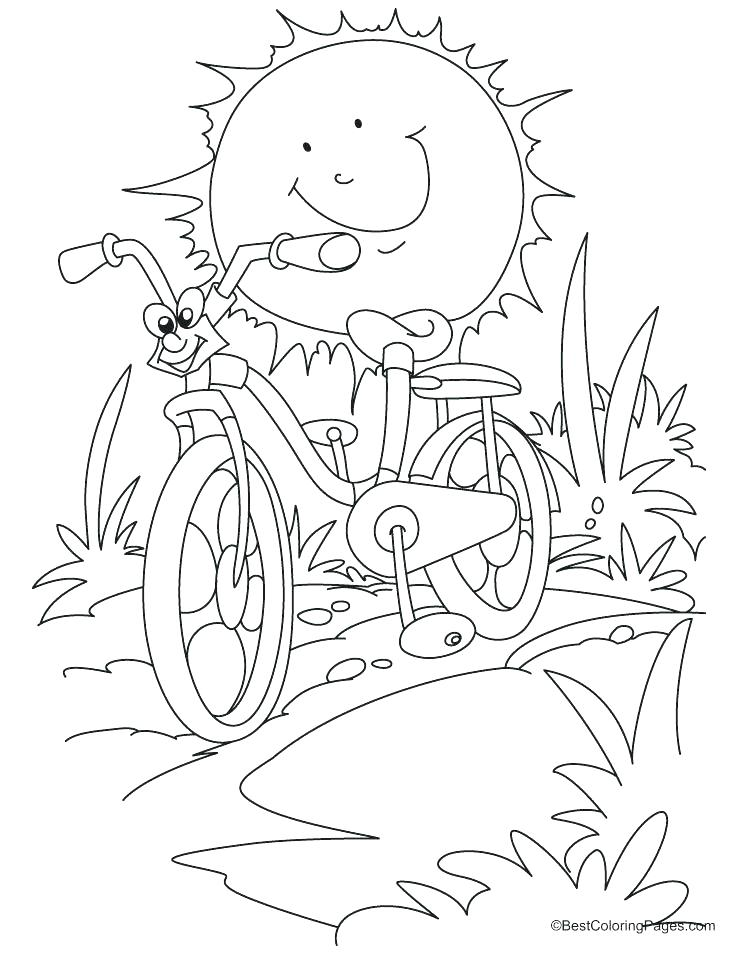738x954 Bike Coloring Pages Bicycle Coloring Book Also Mountain Bike