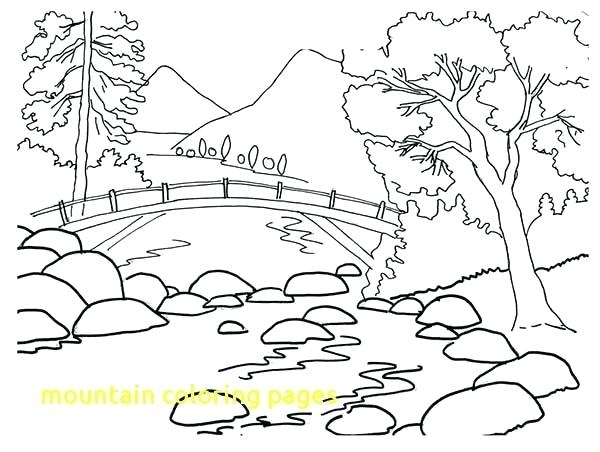 600x452 Coloring Pages Of Mountains Mountains Coloring Page Mountain
