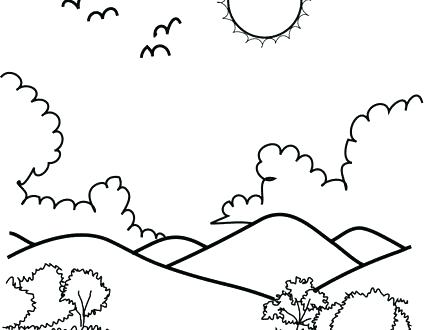 440x330 Coloring Pages Of Mountains Wing Coloring Page Printable Coloring