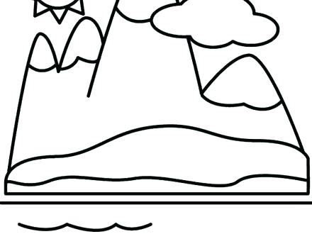 440x330 Mountain Coloring Page Coloring Pages Of Mountains Mountains
