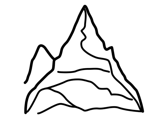 693x493 Mountain Coloring Page Coloring Book