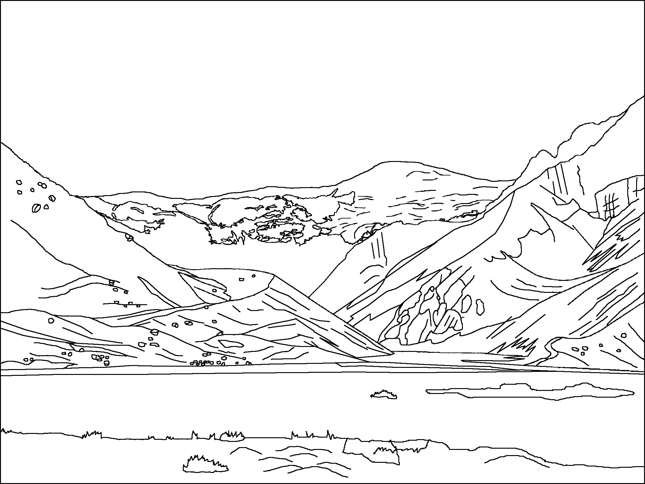 2100x1575 Mountain Coloring Pages