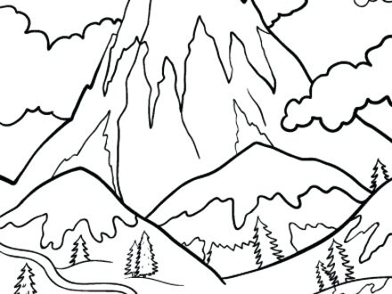 440x330 Mountains Coloring Page Printable Mountain Coloring Page Free