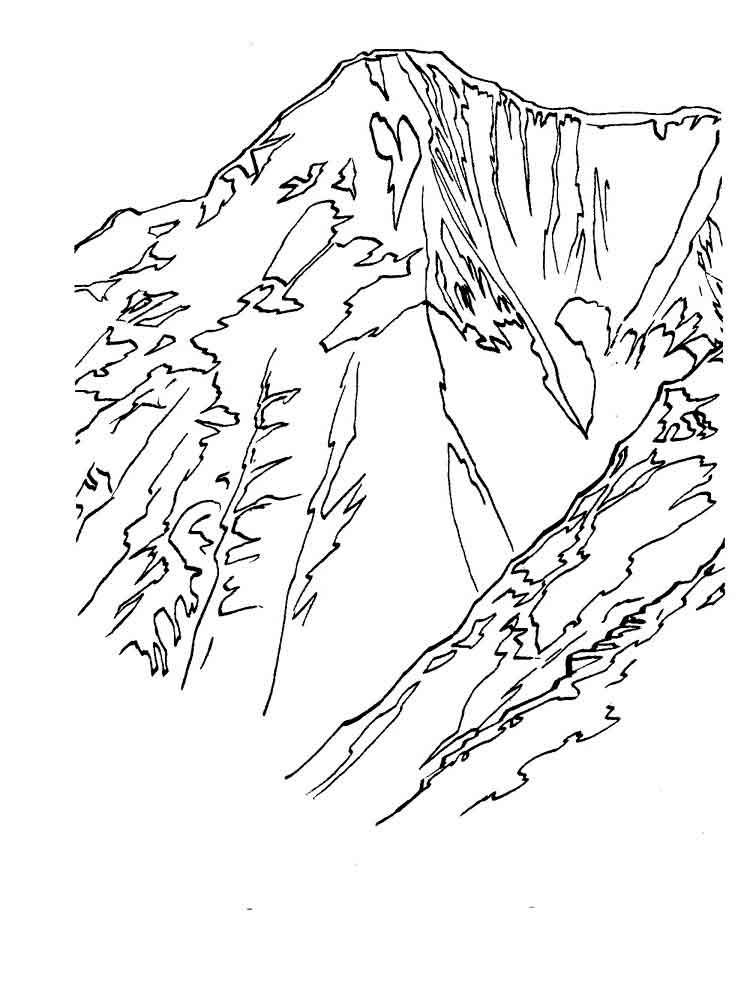 750x1000 Mountains Coloring Pages Download And Print Mountains Coloring Pages