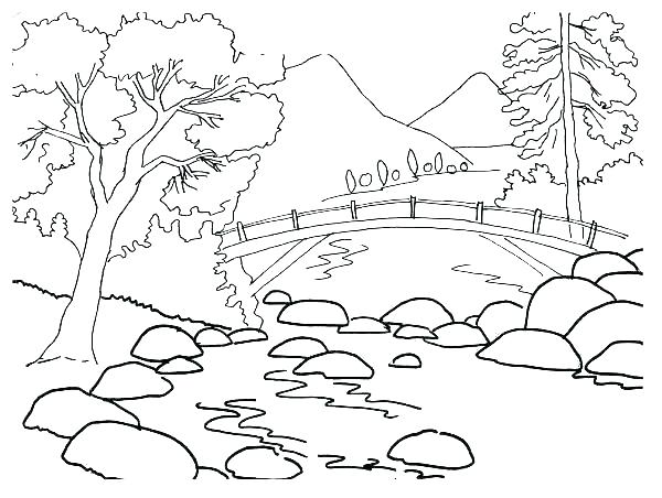 600x452 Coloring Pages Mountains