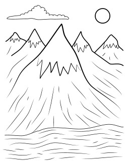 250x324 Mountains Coloring Pages Copy Henry Free Printables