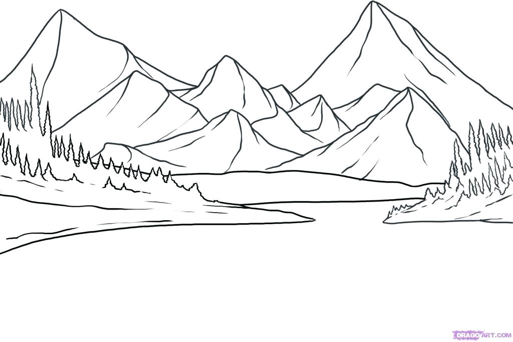 1024x682 Coloring Pages Mountains Coloring Pages Of Mountains Landscape