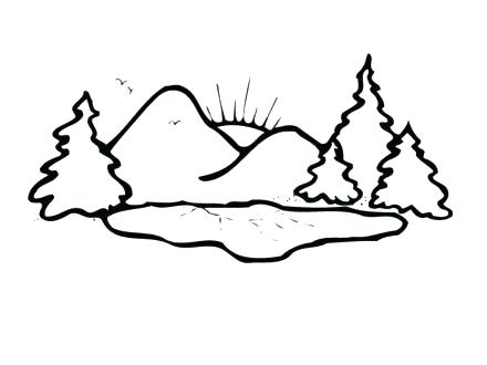 440x330 Coloring Pages Mountains Desert Mountain Coloring Page Coloring