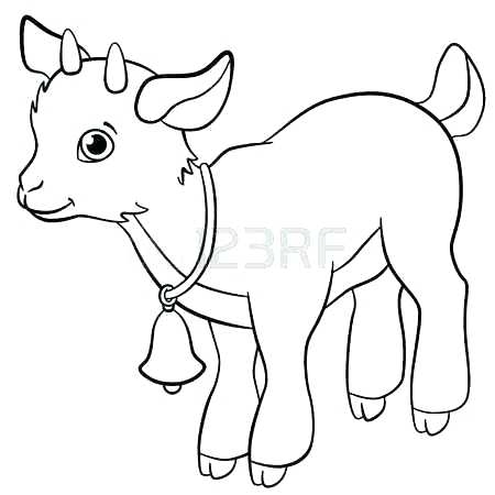 450x450 Coloring Pages Of Goats Picturesque Mountain Goat Coloring