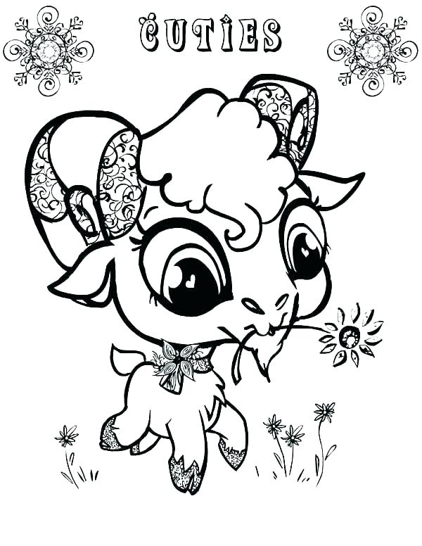 600x776 Goat Coloring Pages Best Big Sheets Images On For Goat Coloring