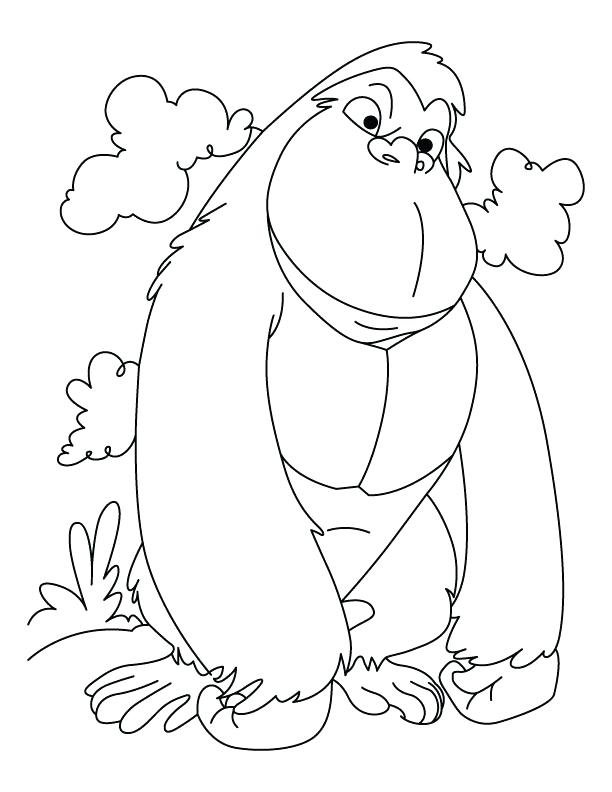 612x792 Gorilla Grodd Coloring Pages New Gorilla Coloring Pages Top Child