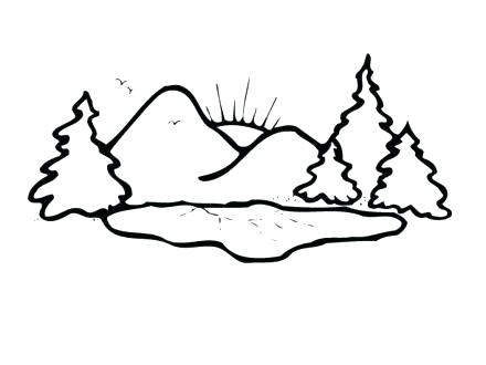 440x330 Mountain Coloring Pages Coloring Pages Of Mountains Mountain