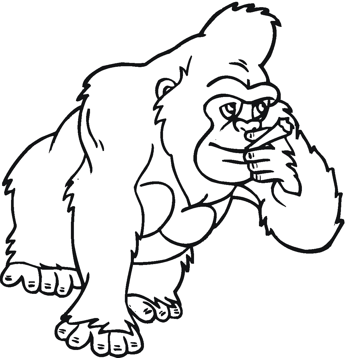 1161x1200 Unique Funny Gorilla Coloring Pages Design Free Coloring Pages