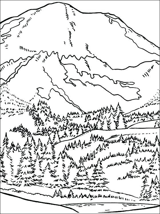 Mountain Landscape Coloring Pages at GetDrawings.com | Free ...