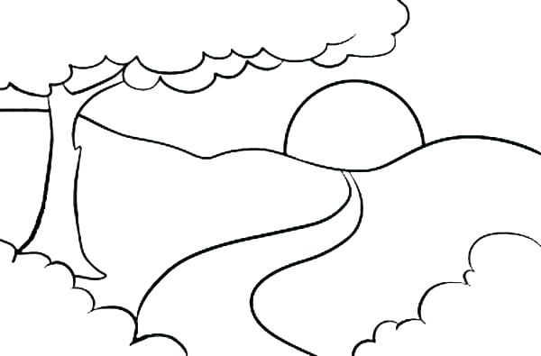 600x395 Coloring Pages Mountains Bison Coloring Pages Coloring Pages