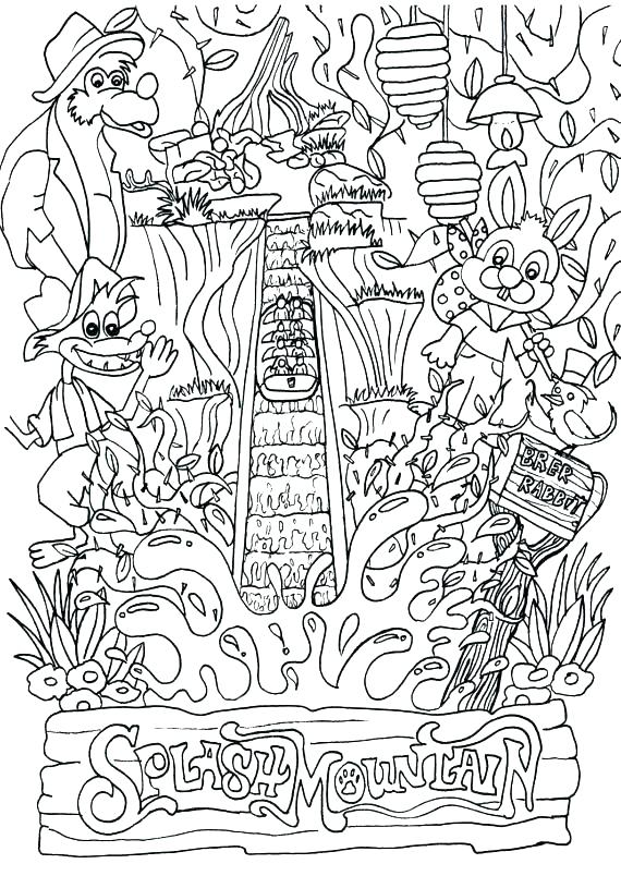 570x804 Coloring Pages Of Mountains Landscape Coloring Pages Landscape