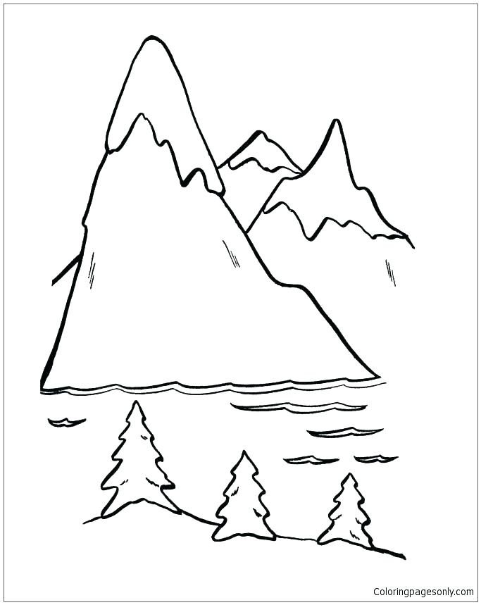 683x859 Mountain Coloring Page Road Coloring Page Mountain Coloring Page