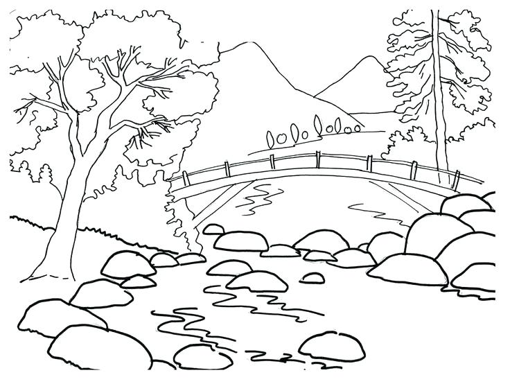 736x554 Mountain Coloring Page Mountain Coloring Sheet Photo Free Mountain