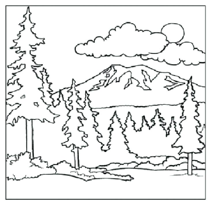 728x712 Mountain Coloring Pages Mountain Top Coloring Page Mountain