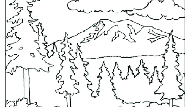 Mountain Range Coloring Pages At Getdrawings Com Free For