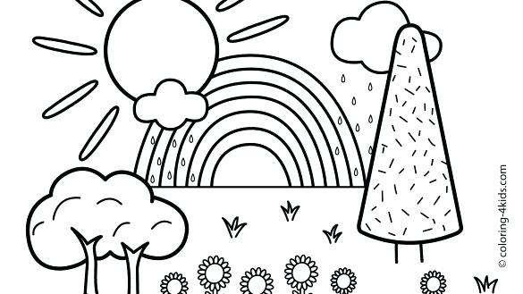585x329 Scenery Coloring Pages Download Or Print These Amazing Scenery