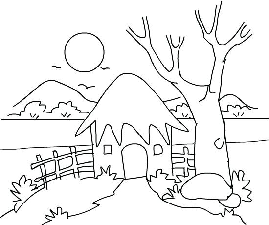 Mountain Scenery Coloring Pages At Getdrawings Free Download
