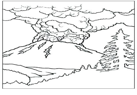 476x333 Coloring Pages Of Mountains Mountain In Japan Landscape Coloring