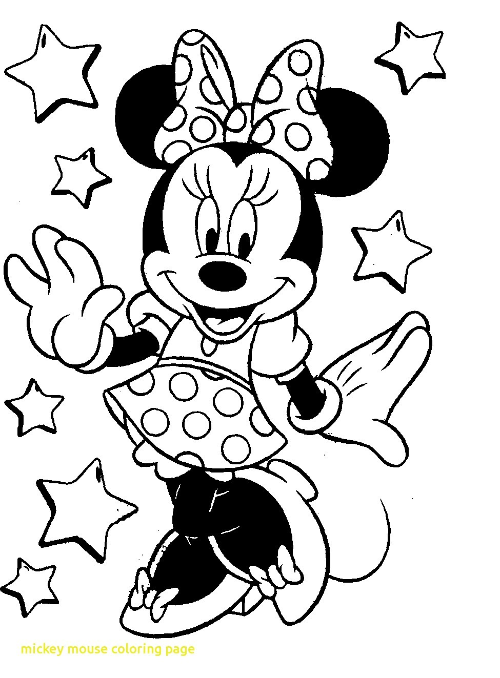 975x1323 Minnie Mouse Coloring Pages For Kids Printable
