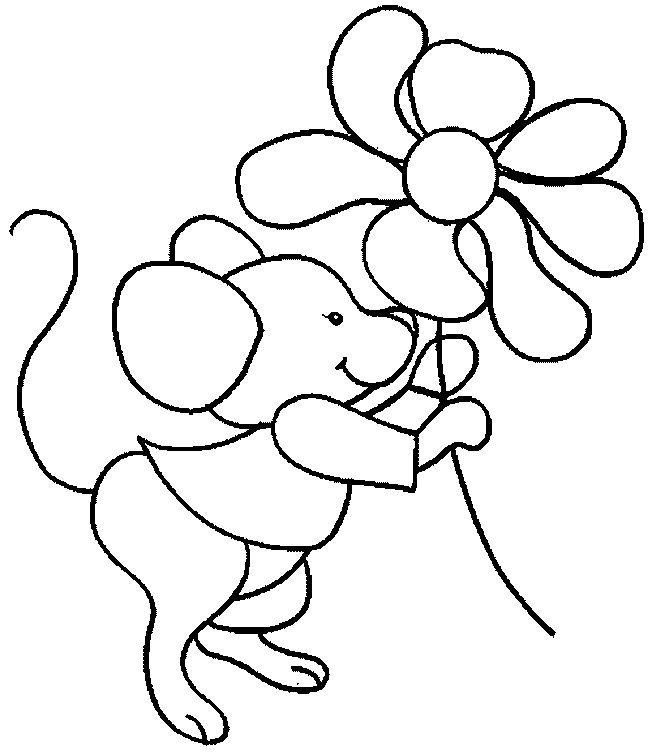 652x755 Cartoon Mouse Coloring Pages