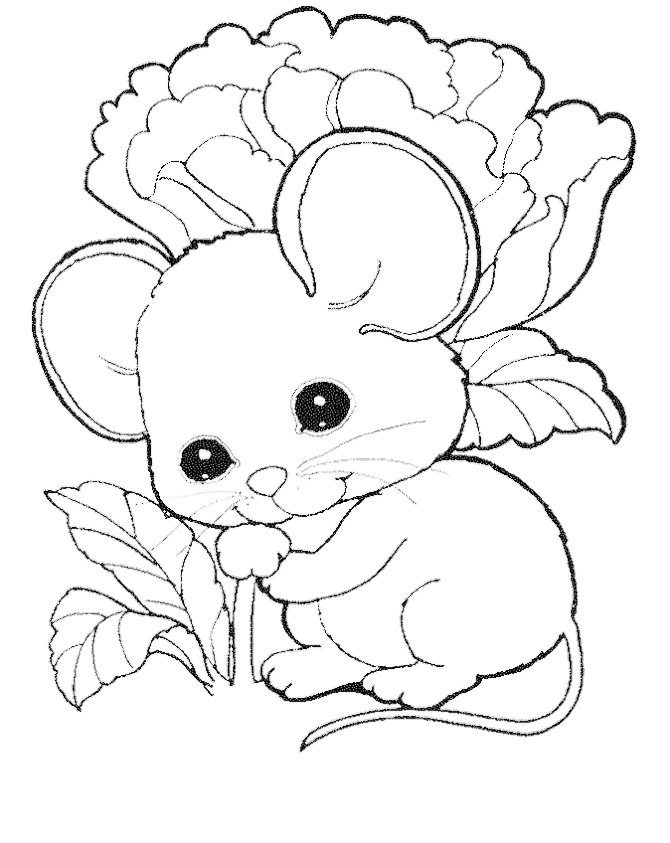 670x843 Cute Mouse Coloring Pages Free Kids Coloring Pages