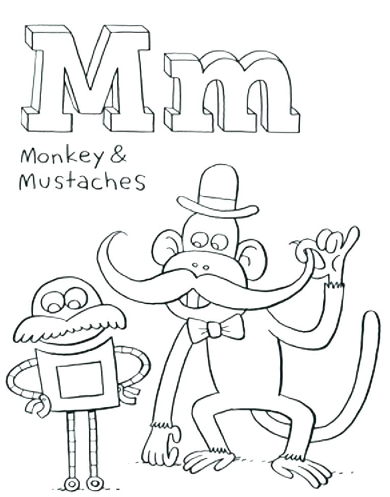 Moustache Coloring Page at GetDrawings.com | Free for personal use ...