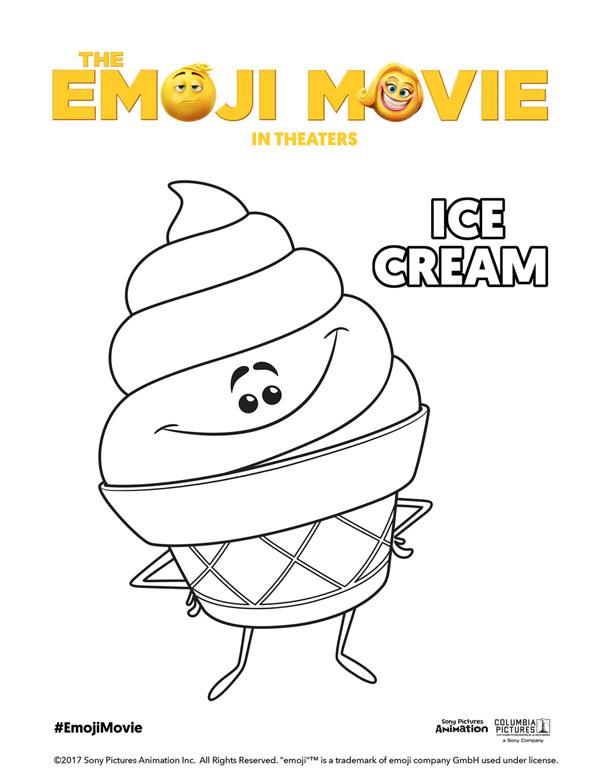 600x776 Printable Emoji Movie Coloring Pages