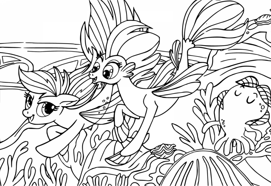 1024x704 Printable My Little Pony The Movie Coloring Pages
